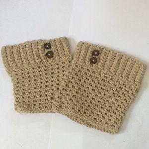 Hand crochet teen/adult boot cuffs